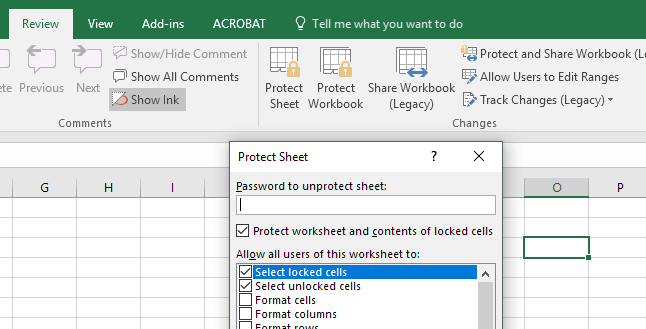 remove passwords on excel password protected sheets and workbooks