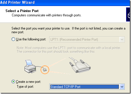 how to connect to a ip address and port