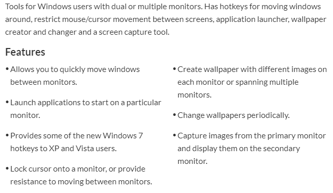 That Let You Control Pretty Much Every Aspect Of A Dual Monitor Setup I Recommend Trying This Program First Since Its Free And Has So Many Features