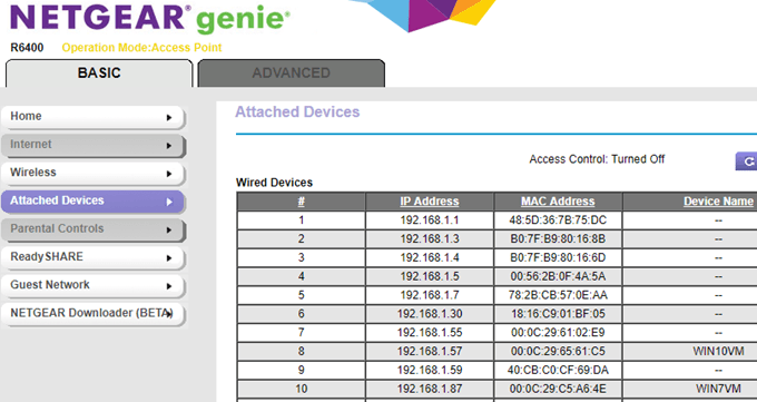 How to determine who is connected to your wireless network for linksys you have to click on a button called dhcp clients table for xfinity routers its under the connected devices section for d link routers keyboard keysfo Images