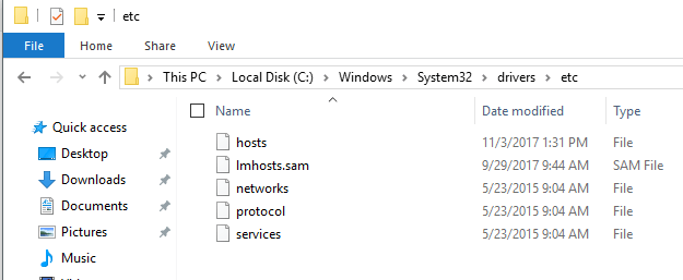 how to change the host file