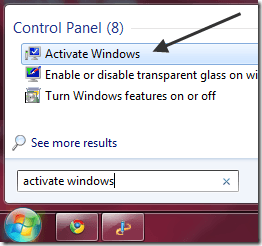 window 7 activation key