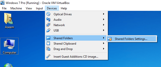 macos - Shared folder between MacOSX and Windows on Virtual