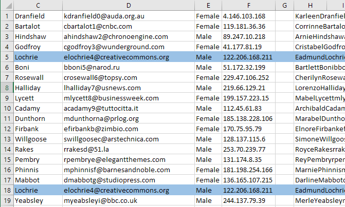 how to delete duplicate records in excel