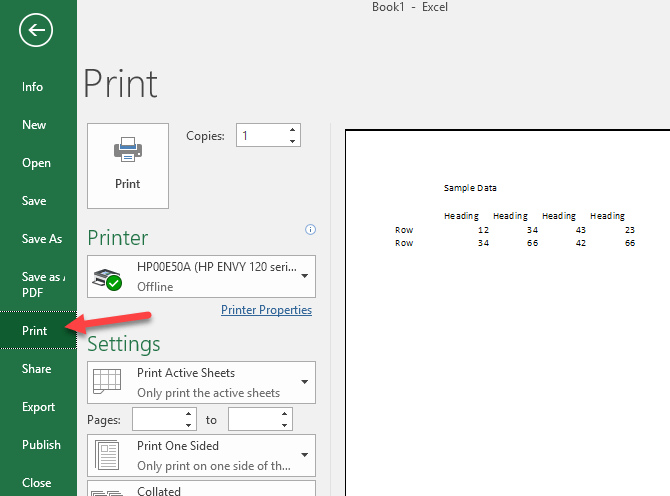 Center your worksheet data in excel for printing to see how your worksheet will display when printed click on file and then print youll get a preview of the document at the far right ibookread ePUb