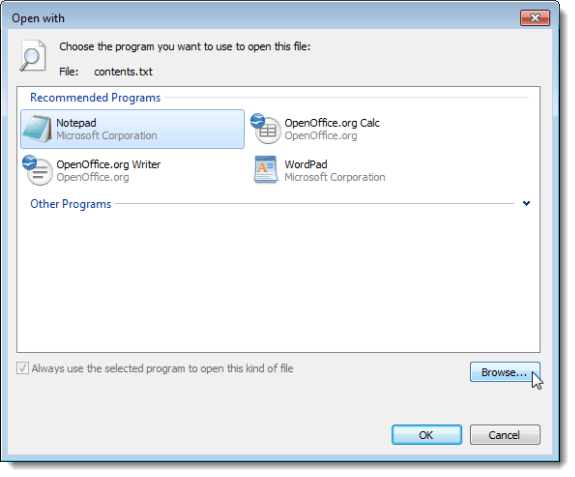 windows 7 how to change file type