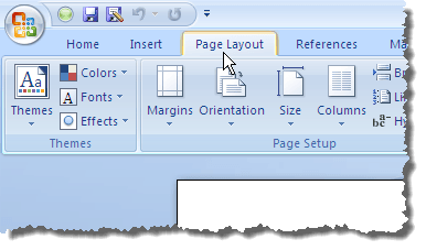 change the default margins used in new word documents