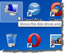 how to turn off labels on windows desktop