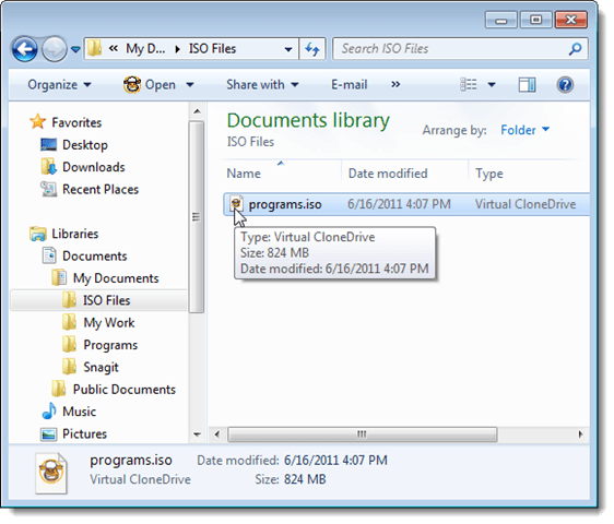 how to make iso file folder from virtual clone drive