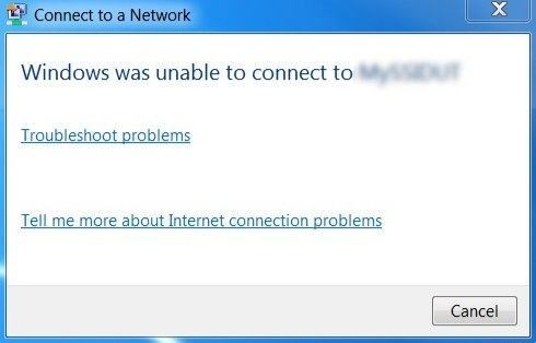 "Fix ""Windows is Unable to Connect to the Selected Network"""