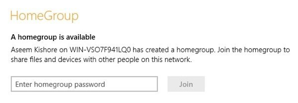 how to make homegroup in windows 8