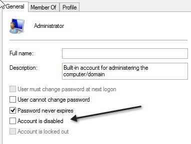 how to break into administrator account windows 10