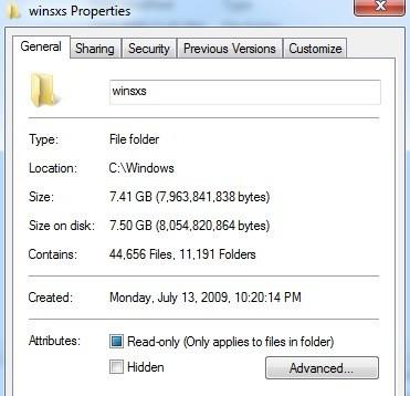 windows 8.1 winsxs