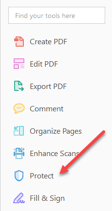 Cant copy text from a pdf file in newer versions of adobe reader and acrobat you have to click on protect in the right hand pane to bring up the protection options solutioingenieria Gallery