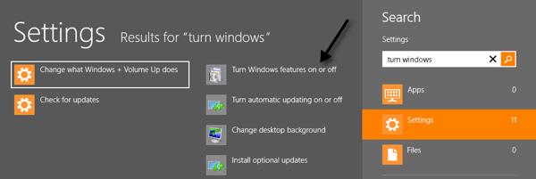 windows 8 features net framework 3.5