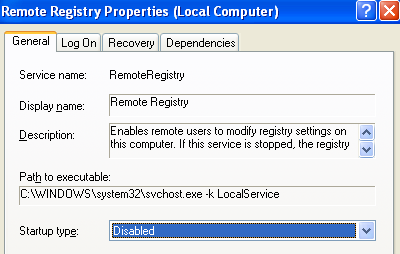 how to remotely connect to another computer registry