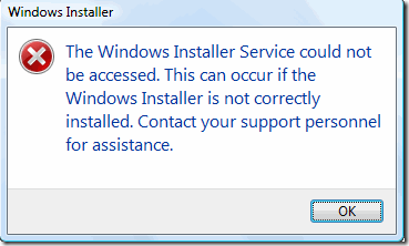 Windows installer service could not be accessed x64 windows vista spooler reinstall